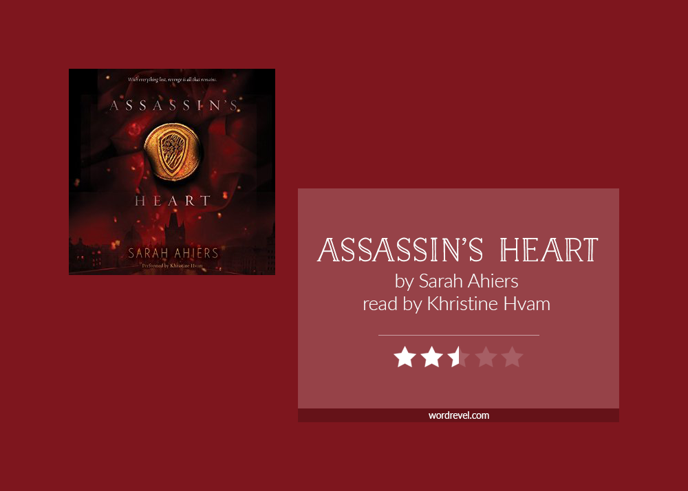 Book cover & rating - Assassin's Heart by Sara Ahiers
