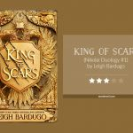 Book cover & 3-star rating for KING OF SCARS by Leigh Bardugo