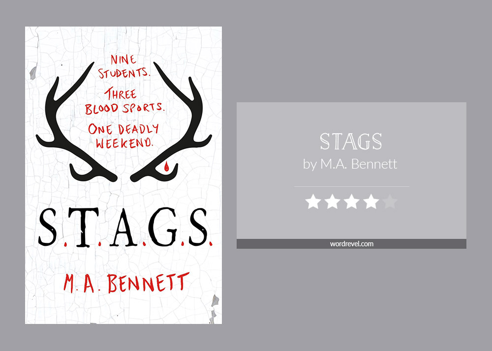 Book cover & rating - STAGS by M.A. Bennett
