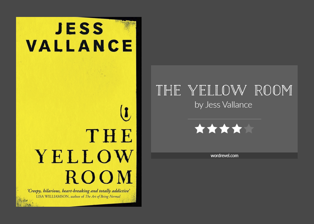 Book cover & rating - THE YELLOW ROOM by Jess Vallance