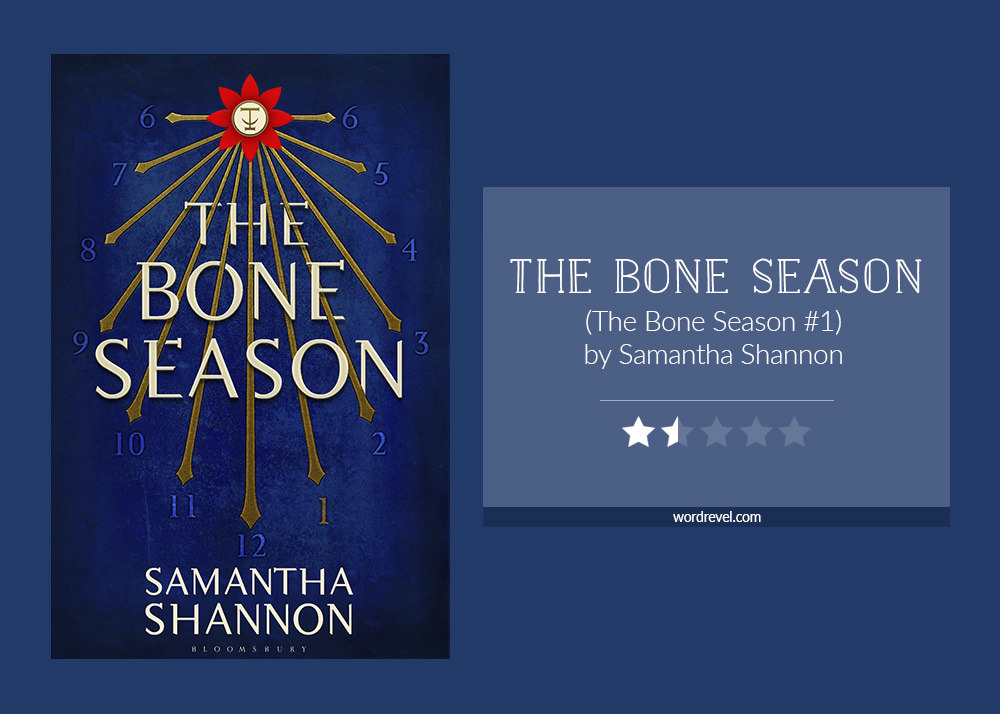 Book cover & rating - The Bone Season by Samantha Shannon