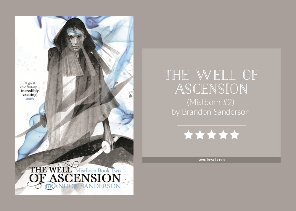 Book cover & rating - The Well of Ascension by Brandon Sanderson