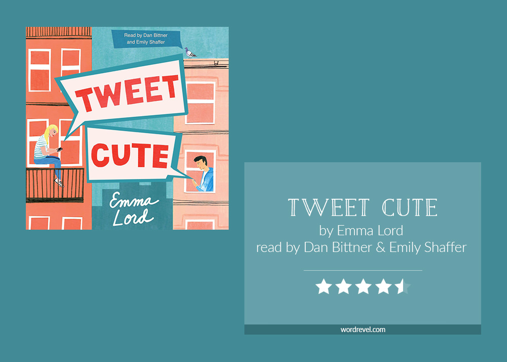 Book cover & 4.5-star rating - Tweet Cute by Emma Lord