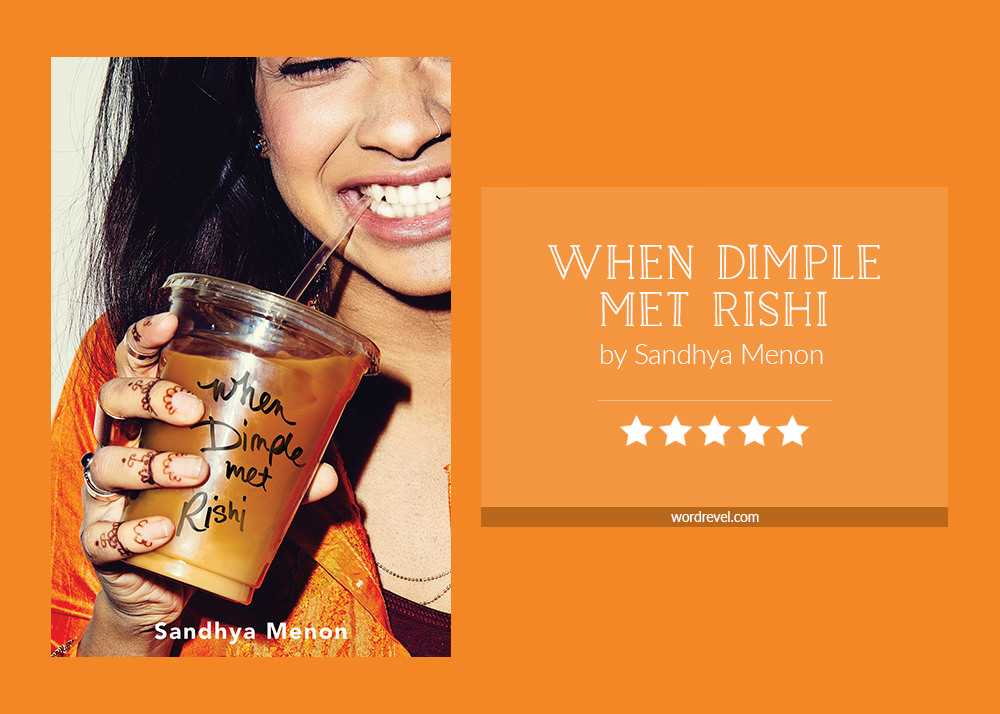 Book cover & rating - WHEN DIMPLE MET RISHI by Sandhya