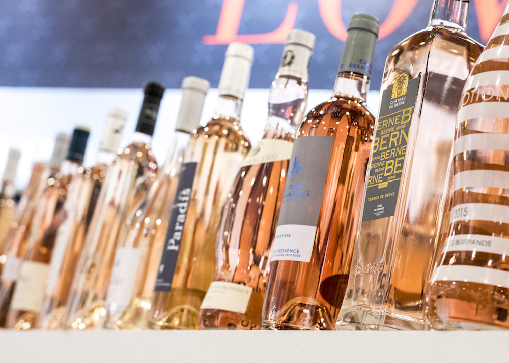 Bottles of Rosé at ProWine Asia 2016