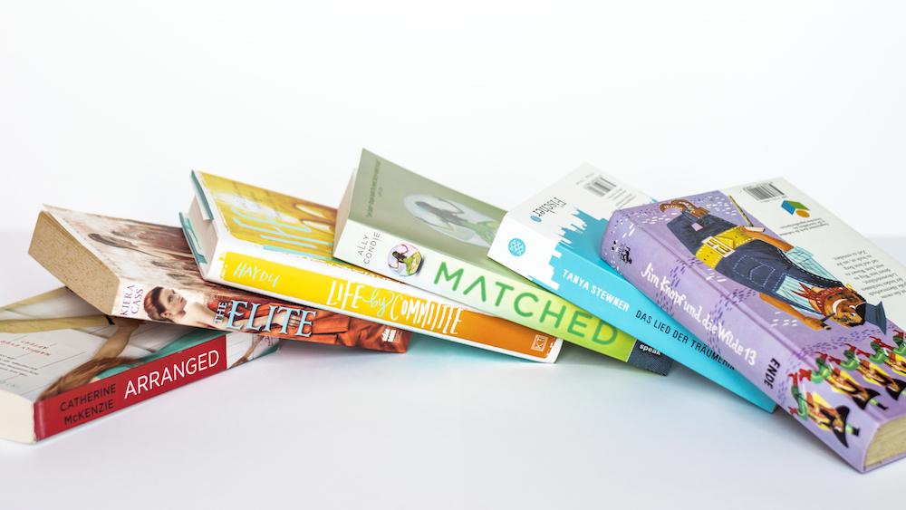 Bright colourful books