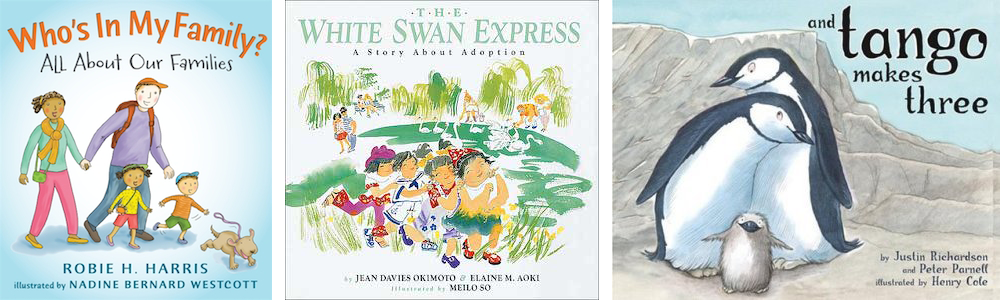 And Tango Makes Three, The White Swan Express, and Who's In My Family?; children's books banned by Singapore library