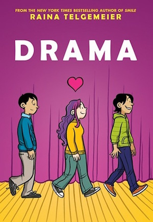 Book cover of DRAMA by Raina Telgemeier