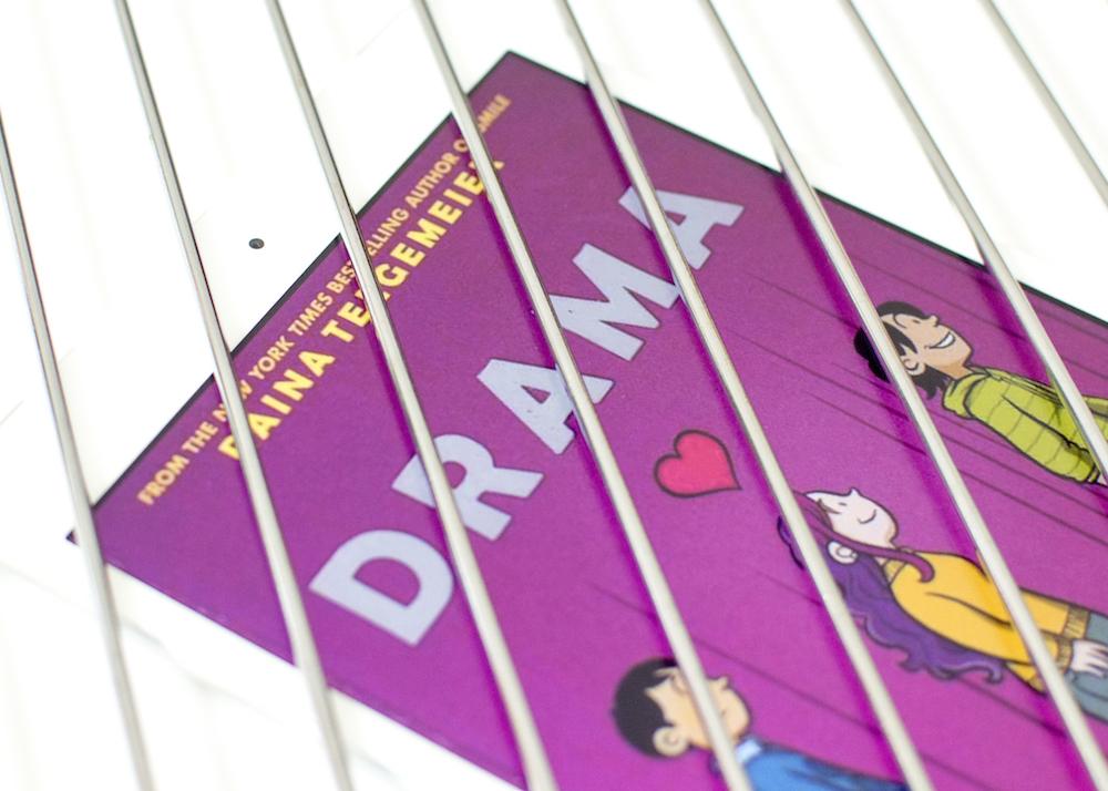 Ebook of Drama by Raina Telgemeier behind bars