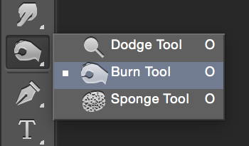 Even light with burn tool - Step 2
