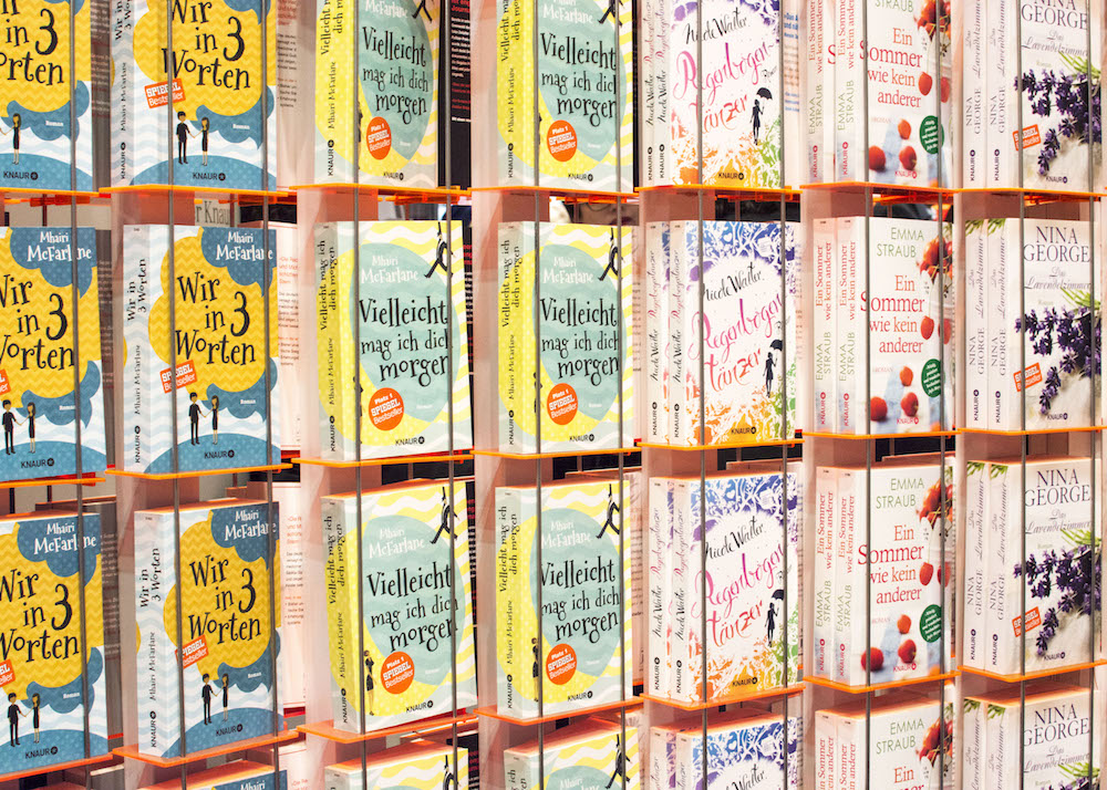 Frankfurt Book Fair 2015: Rows of books