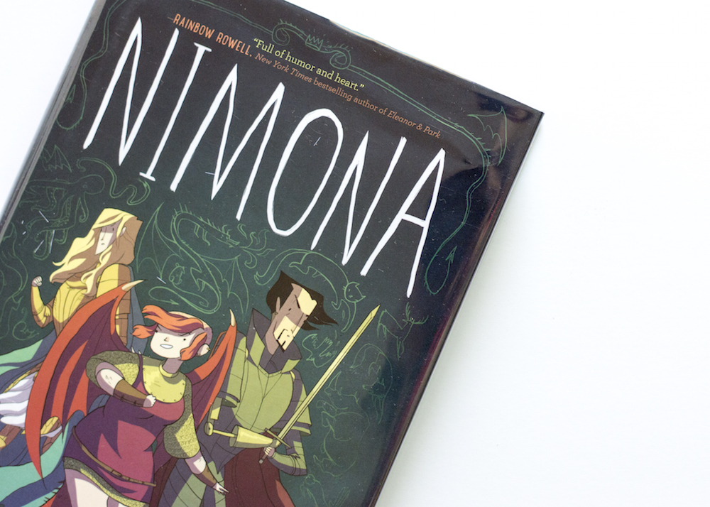 Hardcover of Nimona by Noelle Stevenson