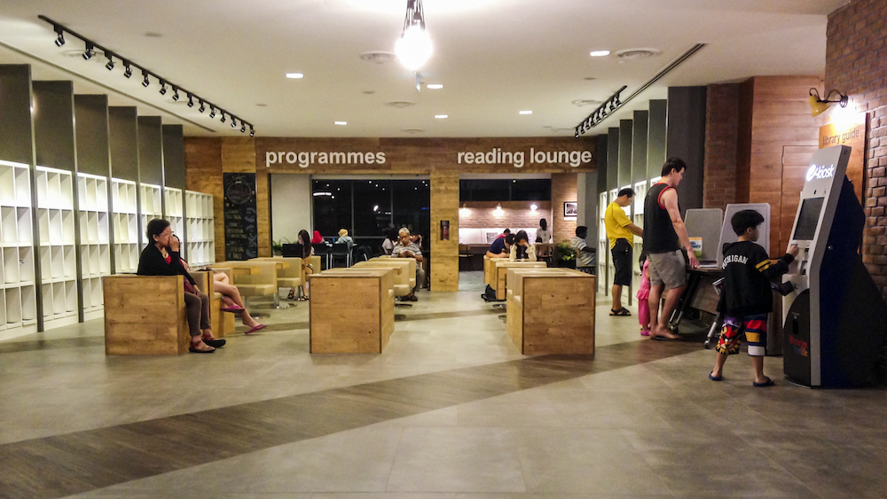 Library magazine corner programme room and reading lounge