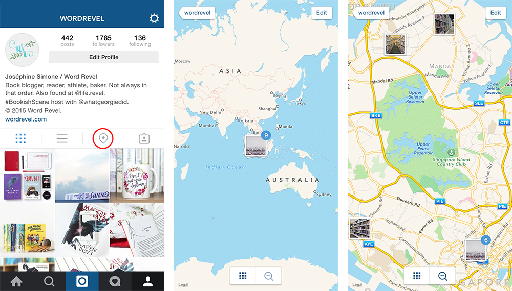 Location Map on Instagram