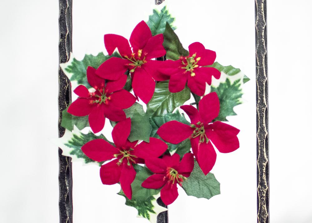 Merry Christmas Poinsettia Wreath
