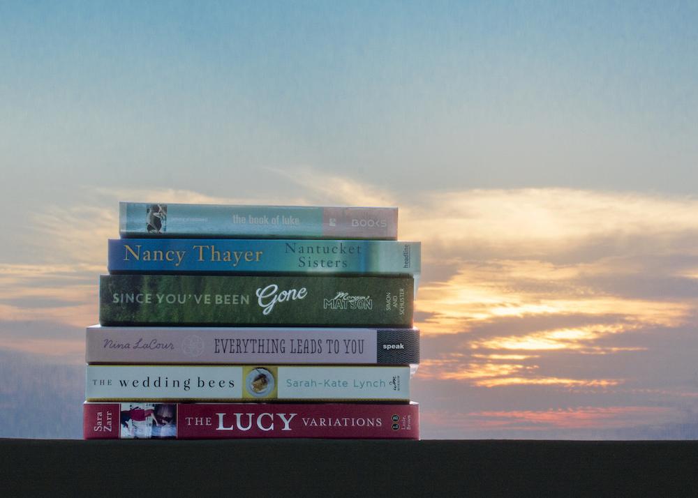 Mise-en-scene Sun: Contemporary YA book stack