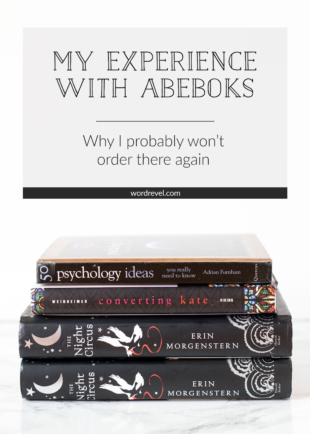 My Experience with AbeBooks; Why I probably won't order there again