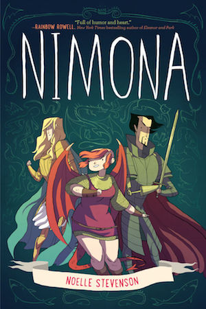 Book cover of NIMONA by Noelle Stevenson