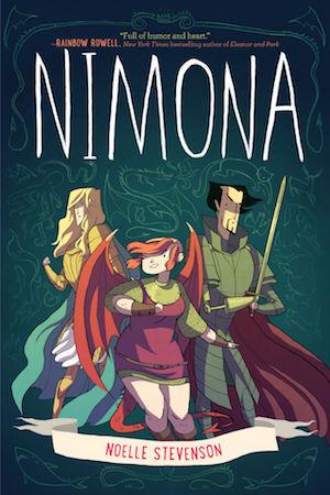 Book cover of NIMONA by Noelle Stevenson
