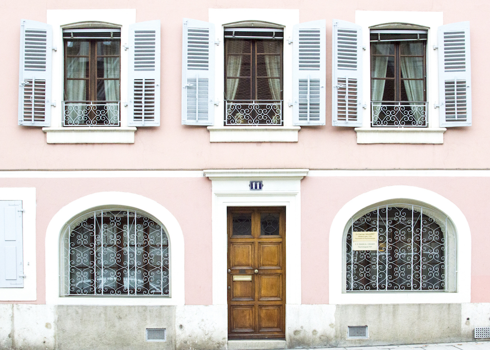 Pastel houses in Carouge