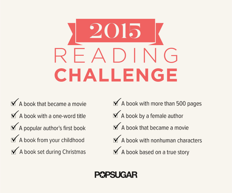 Popsugar 2015 Reading Challenge January Progress