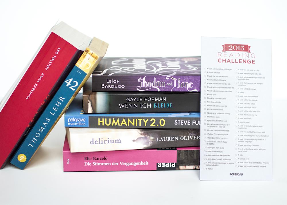 Popsugar Reading Challenge TBR