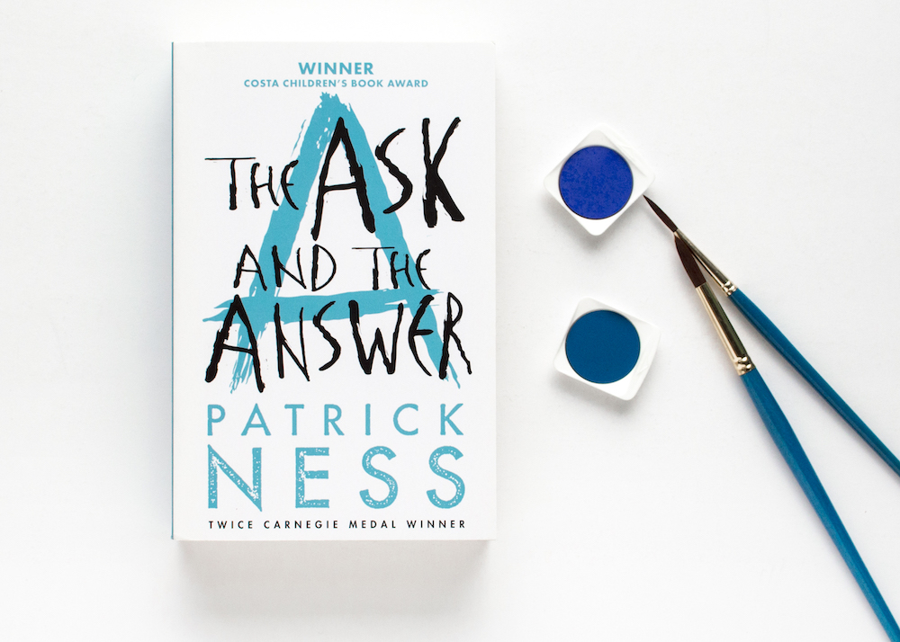 The Ask and the Answer with blue paint material