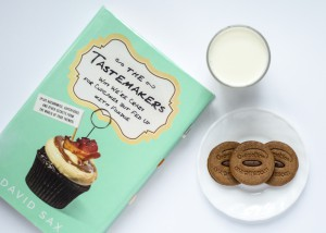 The Tastemakers by David Sax with milk and cookies