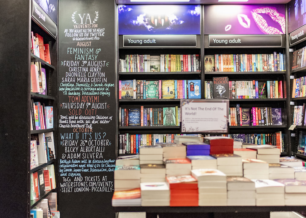 YA Section at Waterstones Piccadilly