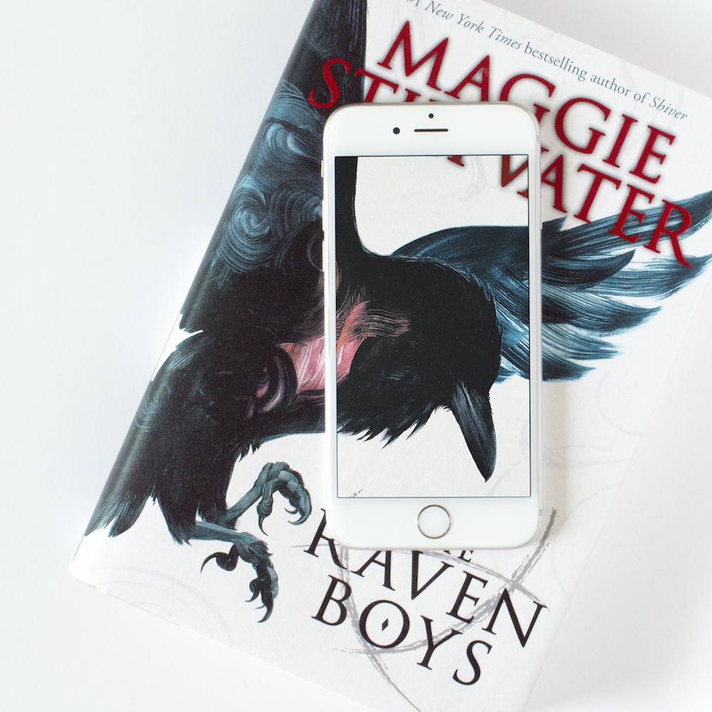#bookthroughphone photo with The Raven Boys